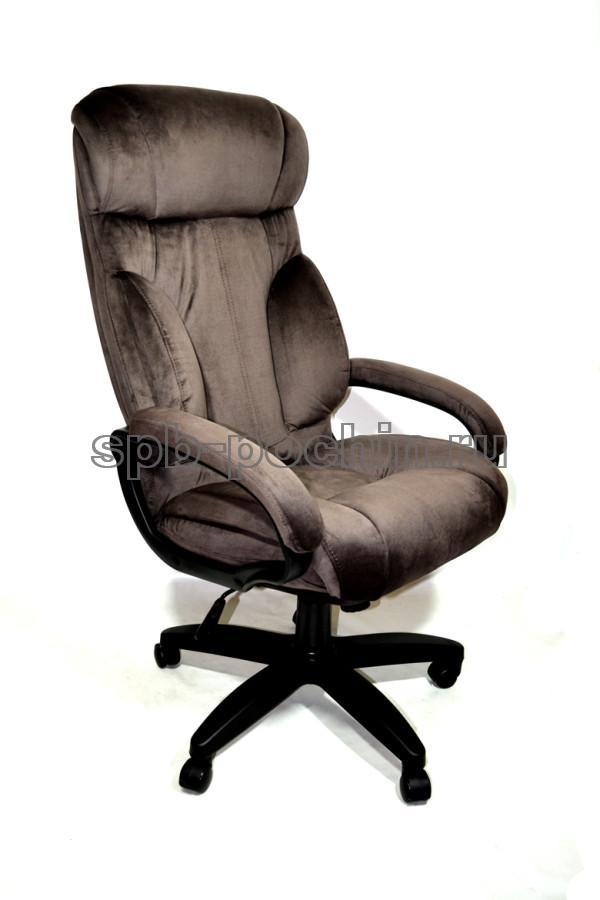 Кресло руководителя ткань КР-19.1 У коричневое