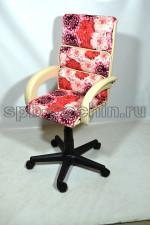 Кресло компьютерное малогабаритное КР-16н цветы