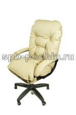 Мягкое удобное компьютерное кресло КР-28  бежевое