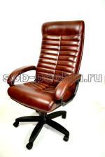Коричневое компьютерное кресло КР-14У с высокой спинкой