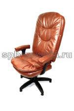 Мягкое удобное кресло с откидывающейся спинкой  КР-23 Люкс (экокожа)