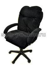 Мягкое удобное компьютерное кресло КР-29 черное ткань