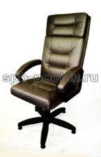 Кресло руководителя  ткань КР-7                       серо-коричневое
