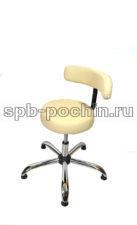 Кресло КР-8 мед бежевое хром