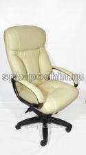 Кресло руководителя КР-19.1 У бежевое с увеличенной спинкой